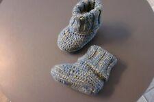 Baby Schuhe Hausschuh Gr. 0 - 3 Sohlenlänge 9 -10 cm, Handarbeit neu