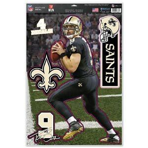 New Orleans Saints Drew Brees Decal Set