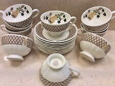 Set 10 WEDGWOOD Ivory China AVOCADO Cup & Saucer Sets