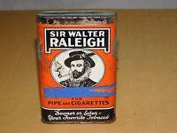 VINTAGE SIR WALTER RALEIGH PIPE & CIGARETTES SMOKING TOBACCO TIN ****EMPTY*