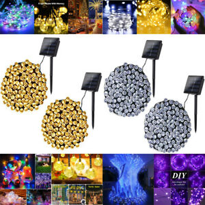 LED Solar String Fairy Lights Outdoor Waterproof Lamp Wedding XMAS Party Decor