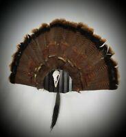 Turkey Fan and Beard Mount with Skull Hangers (Black)