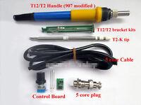 Temperature Controller + T12 Tip Bracket + Handle Case For HAKKO Soldering Iron