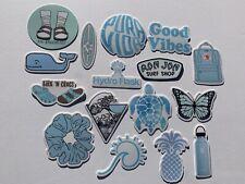 16 VSCO Sticker Pack Aesthetic Blue Pack Hydro Water Bottle Phone Beach Surfing