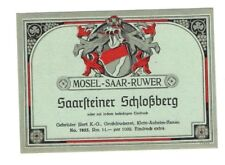 Germany - Wine Label - Gebruder Illert, Hanau - Saarsteiner Schlossberg