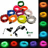 LED Glow Light El Wire String Strip Rope Car Dance Party USB Controller 3V RD17