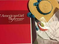 New US Seller American Girl Felicity BeForever Accessory Set~Necklace~Hat~MobCap