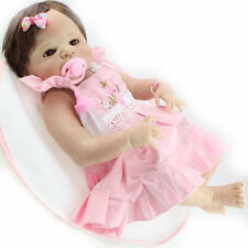 "Hot 22"" Solid Silicone Reborn Baby Dolls Wholesale Lifelike Baby Soft Doll Girls"