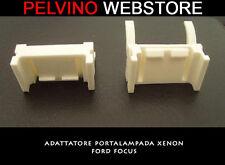 """COPPIA 2 ADATTATORI XENON FERMI PORTA LAMPADINE H7 - SPECIFICO """"FORD FOCUS 2 3"""""""