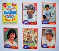 1981 Topps Coca-Cola Coke Boston Red Sox Team Set, Near Mint or Better