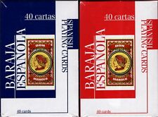 Don Manolo Spanish Suite Playing Cards 2 Deck Set Blue & Red 40 Cartas USPCC New