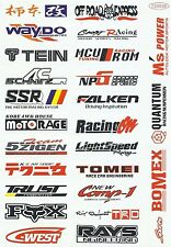 "Sticker Decal Aufkleber Set (SpoN) ""Motorsport Mix""- Modellbau, Stickerbomb"