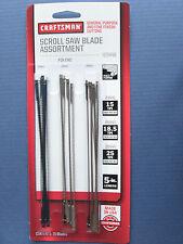 15 Blades ~ Craftsman 9 29448 Scroll Saw Blade Assortment ~ Pin end ~ 5-inch