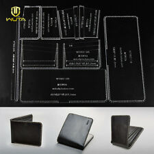 WUTA 8x Men Bifold ID Card Diy Craft Wallet Acrylic Leather Template Pattern 802