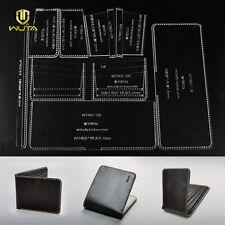 WUTA Men Bifold ID Card Money Holder Wallet Acrylic Leather Template Pattern 802