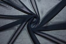 """Blue Gray Chiffon Knit Sheer 60"""" Wide 100% Polyester Sewing Dress Fabric BTY"""