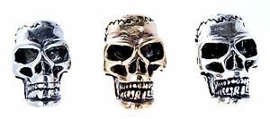 Bartperle Edelstahl Bronze Silber Totenkopf Skull Schädel Haarschmuck Stück/Paar