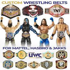 WWE WWF Custom Wrestling Figure Belt AEW/NJPW/ROH Mattel/Jakks/Hasbro Figures