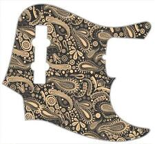 J Bass Pickguard Custom Fender Graphic Graphical Guitar Pick Guard Paisley BK-CR