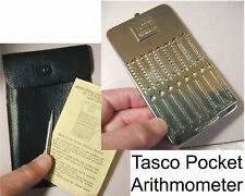 Vintage Tasco Pocket Arithmometer Adder Mechanical Calculator