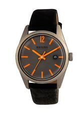 KAHUNA MEN'S GREY DIAL ORANGE MARKING BLACK STRAP WATCH - KUS0122G - RRP:£50
