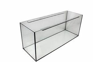 NACD AQUARIUMS Aquarium Fish Tank 100Lx40Wx40H cm + sliding glass cover