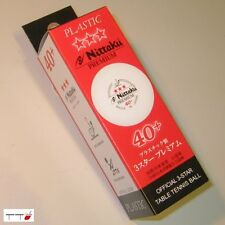 6 x Nittaku 3-Star PREMIUM 40+mm Table Tennis Balls Plastic Cell-Free