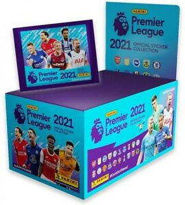 Panini Premier League 2021 Stickers - Full Box 100 Packets Of Stickers In Total