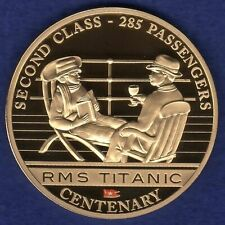 Cook Islands 2012 Gold Plated Dollar, Titanic, Second Class (Ref. t2361)
