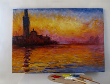"""Oil Painting Reproduction of San Giorgio Maggiore at Dusk by Claude Monet 24x32"""""""