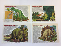lot of four 1980's magazine cartoons ~ DINOSAUR HALL OF FAME