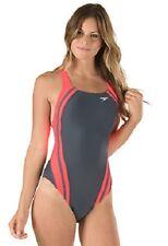 NEW Speedo Women's Quantum Splice One Piece Swimsuit size 12 Granatina