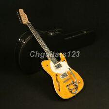 Zuwei Electric Guitar Maple Top Bone Nut Canada Maple Neck Semi Hollow body