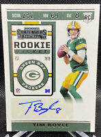 Tim Boyle 2019 Panini Contenders Rookie Ticket Autograph AUTO RC #294