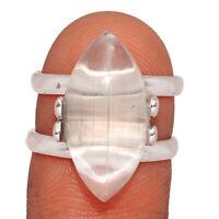 Selenite - Brazil 925 Sterling Silver Jewelry Ring s.6.5 BR5006 260B XGB