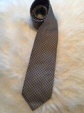 BANANA REPUBLIC Classic Italian Silk Tie Silver Gray Small Round Medallion New