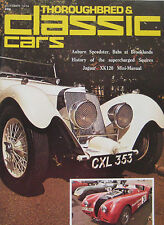 Classic Cars 10/1974 featuring Citroen SM, Jaguar XK120, Babs, Squire, Singer