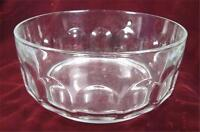 Arcoroc Glass Salad Bowl Thumbprint Clear France Serving Vegetable Lovely (O)