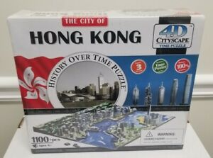 Hong Kong 4D Cityscape History Over Time Puzzle NEW in Box 1100 Pieces 3 Layers
