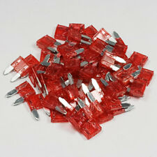 25 x 10 Amp Red Mini Blade Fuse 10A Amps A ATM Grey Auto Car Van Bike Fuses