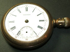 Antique/Vintage American Waltham pocket watch 14044184 *WORKS* needs light TLC