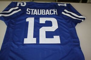 ROGER STAUBACH #12 QB SEWN STITCHED HOME JERSEY ROYAL BLUE SIZE XLG HOF MVP