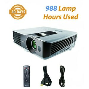 BenQ MX710 3D DLP Projector 2700 ANSI 1080p HDMI Adapter - 988 Lamp Hours Used
