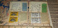 Vintage 1965 & 1966 California Fishing License