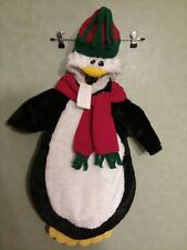 NWT Baby Penguin Bunting Snowsuit Costume Plush Fleece One Piece Hood 0-9M
