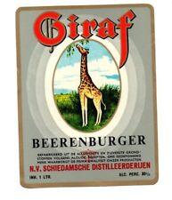Netherlands - Label - Schiedamsche Distilleerderijen - Giraf Beerenburger