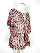 Marc by Marc Jacobs Swim 100% Silk Geometric Lightweight Cover Up Size L