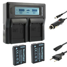 2x Akku für Panasonic BCG10E + Dual Ladegerät Charger für Pan. BCG10 65242 90320
