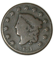 1831 Coronet Matron Head Large Cent