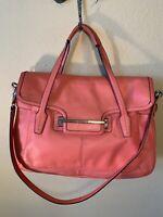COACH MARION Taylor  Leather Flap Satchel F26781 Tote Shoulder Bag